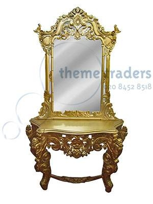Gold Dressing Table And Mirror Props – Prophire – Props – Aadre22 Inside Gold Dressing Table Mirrors (View 26 of 30)