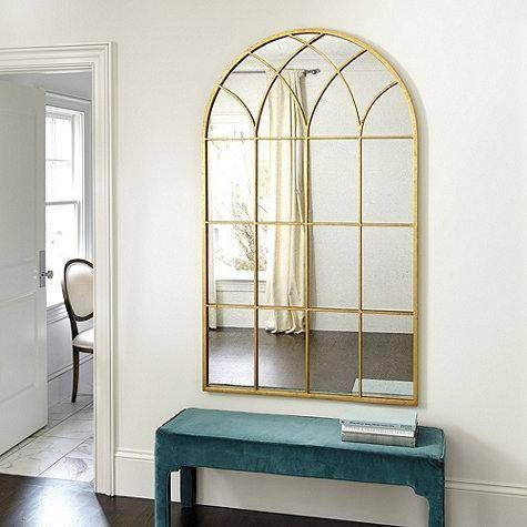 Gold Frame Arch Mirror With Regard To Gold Arch Mirrors (#12 of 20)