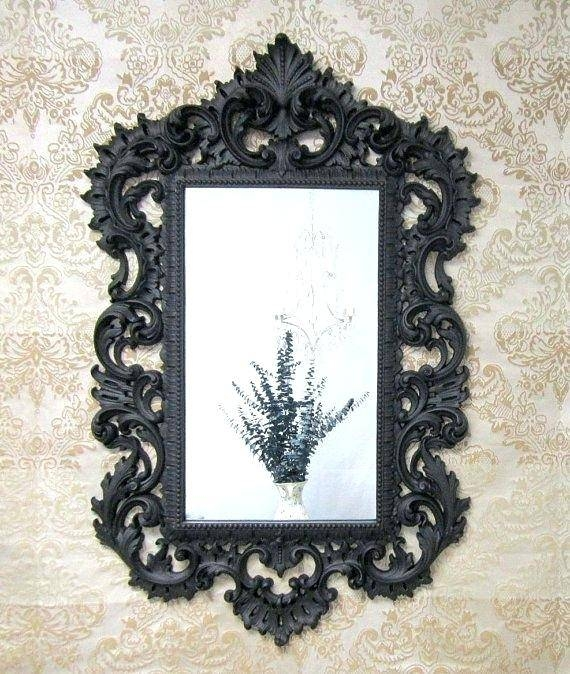 Gold Framed Mirrorunique Mirrors – Shopwiz For Black Ornate Mirrors (#20 of 30)