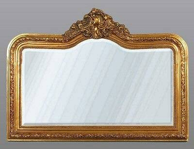 Gold French Decorative Overmantle Mirror | French Mirror Company Pertaining To Gold Mantle Mirrors (#17 of 30)