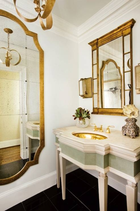 Gold French Mirror – French – Bathroom – J (#26 of 30)
