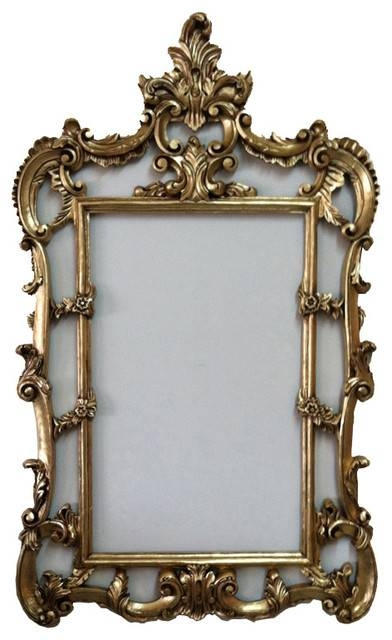 Gold French Wall Frame Baroque Style – Traditional – Wall Mirrors Regarding French Gold Mirrors (#16 of 20)