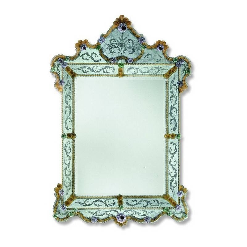 "Gold ""glenda"" Venetian Mirror – Venetian Mirrors Regarding Gold Venetian Mirrors (#7 of 20)"