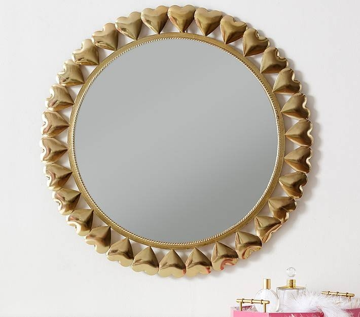 Gold Heart Mirror | Pottery Barn Kids With Regard To Gold Heart Mirrors (#14 of 30)