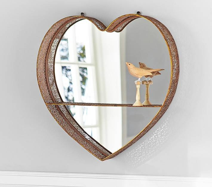 Gold Heart Shelf Mirror | Pottery Barn Kids For Gold Heart Mirrors (#15 of 30)