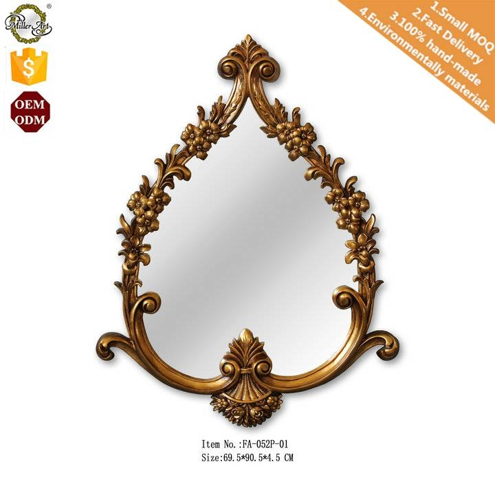 Gold Leaf Heart Shaped Mirrors Decor Wall Home – Buy Decorative With Regard To Heart Shaped Mirrors For Walls (View 21 of 30)