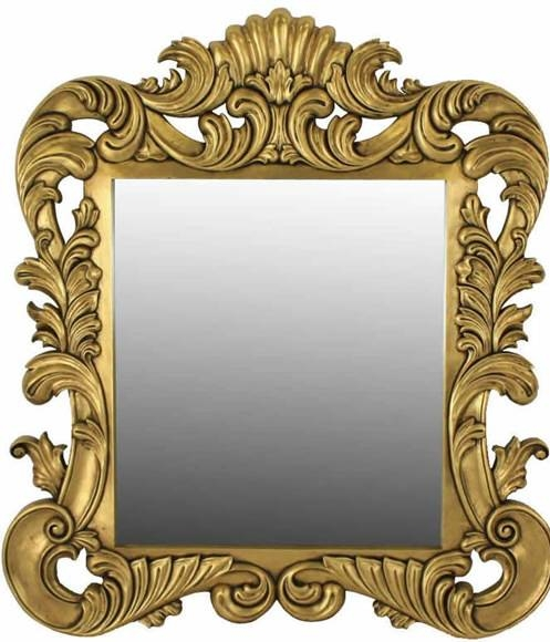 Gold Leaf Rococo Wall Mirror For French Rococo Mirrors (#10 of 15)