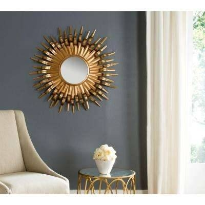 Gold Metallic – Mirrors – Wall Decor – The Home Depot With Gold Mirrors (#25 of 30)