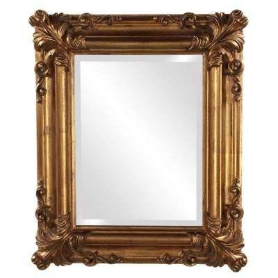Gold Metallic – Mirrors – Wall Decor – The Home Depot Within Gold Mirrors (#26 of 30)
