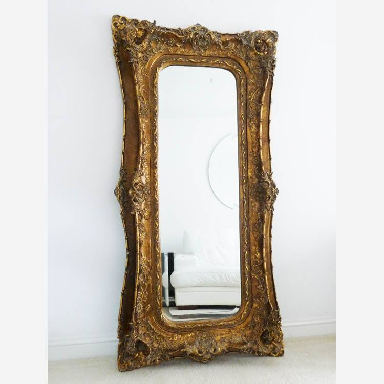 Gold Mirror Decorative Large Frame 180 X 89 Cm Extra Large Inside Large Ornate Wall Mirrors (#16 of 30)