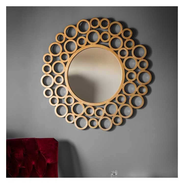 Gold Mirrors | Gold Framed Mirrors | Exclusive Mirrors Throughout Large Round Gold Mirrors (#23 of 30)