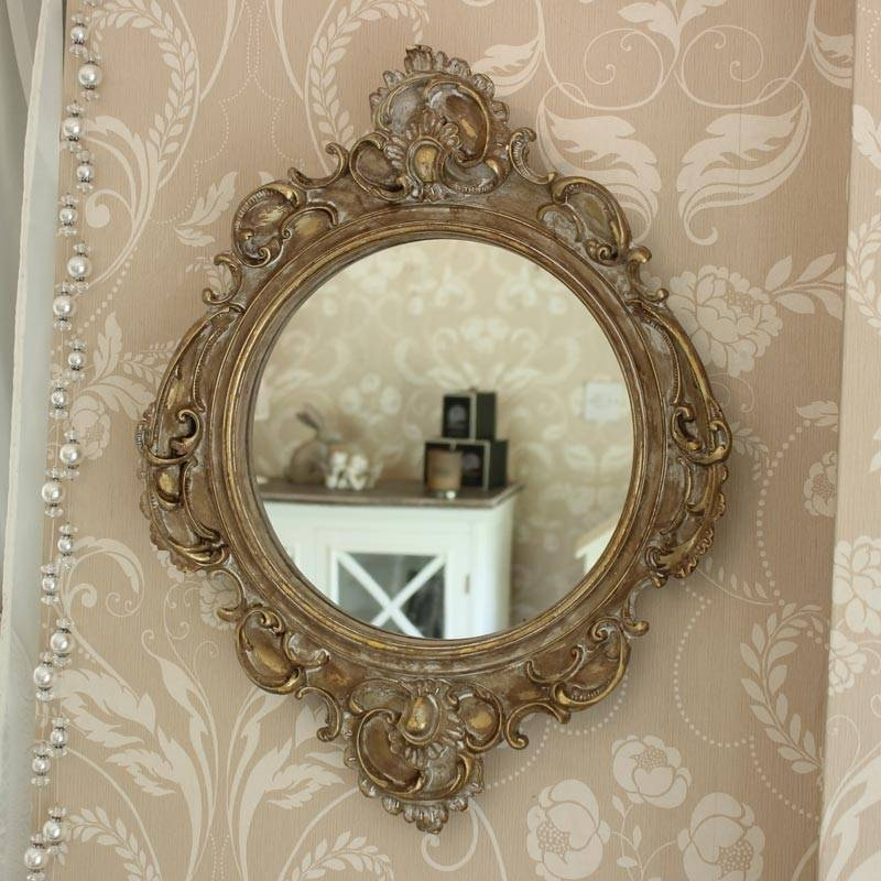 Gold Ornate French Style Wall Mirror – Melody Maison® In French Style Wall Mirrors (#19 of 30)