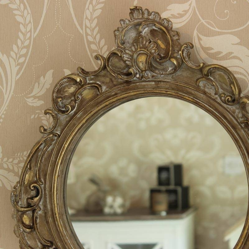 Gold Ornate French Style Wall Mirror – Melody Maison® Pertaining To French Style Wall Mirrors (#20 of 30)