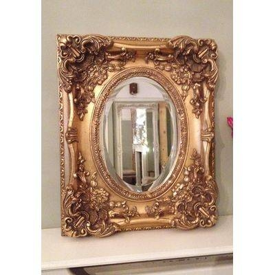 Gold Ornate Mirrors, Classic Mirrors & Stylish Mirrors – Ayers In Large Ornate Gold Mirrors (#27 of 30)