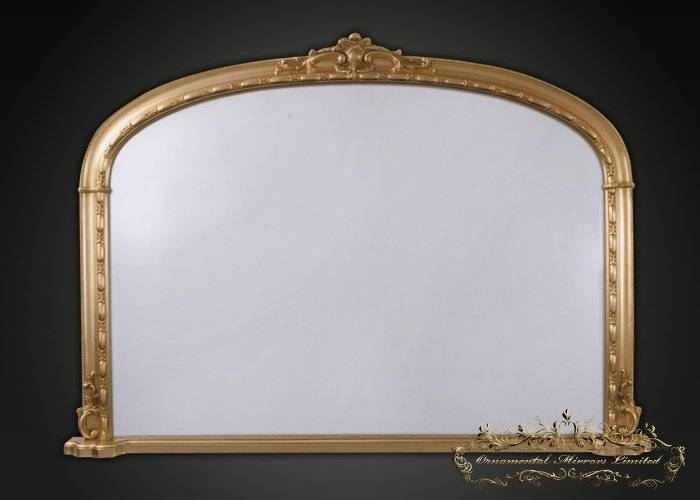 Gold Overmantel Mirror / Gold Floor Standing Mirror From For Gold Mantle Mirrors (#18 of 30)