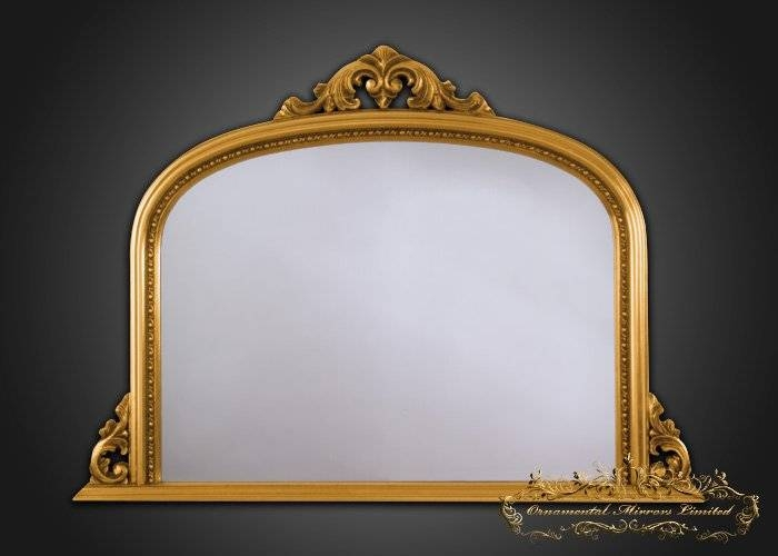 Gold Overmantel Mirrors Pertaining To Gold Mantle Mirrors (#19 of 30)