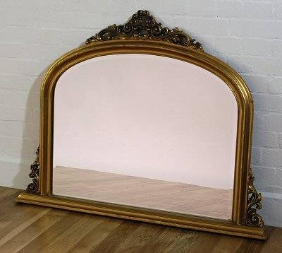 Gold Overmantle Mirror | French Mirror Company Intended For Gold Mantle Mirrors (#20 of 30)