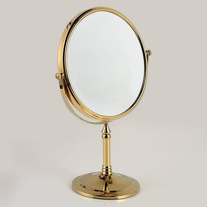 Gold Plating Copper Framed Dressing Table Top 2 Faced Swivel Within Gold Dressing Table Mirrors (View 21 of 30)