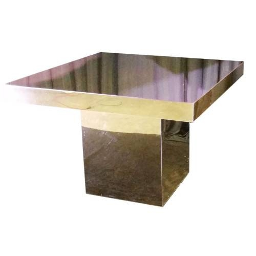 Gold Plexiglass Mirror Table – Mtb Event Rentals Pertaining To Gold Table Mirrors (View 20 of 20)