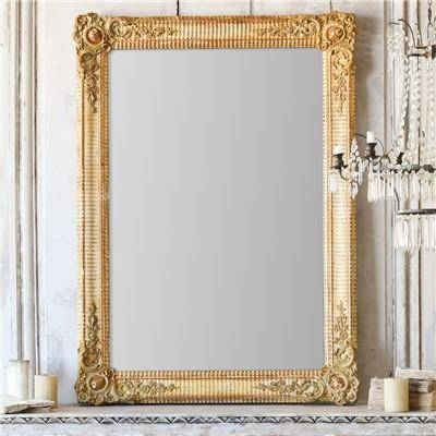 Gold Vintage Ornate Frame Mirror Within Gold Antique Mirrors (#13 of 20)