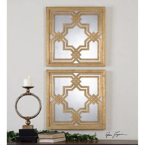 Good Looking Square Mirror Wall Decor Throughout Square Gold Mirrors (#12 of 20)