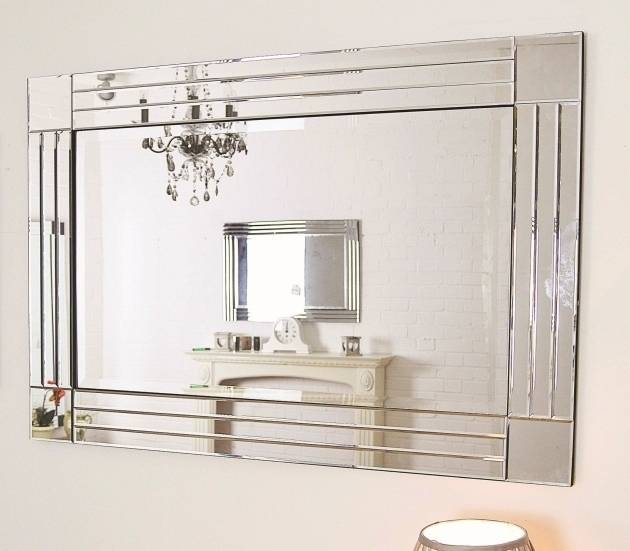 Gorgeous Large Glass Bevelled Wall Mirror Large Glass Bevelled In Large Glass Bevelled Wall Mirrors (#9 of 20)