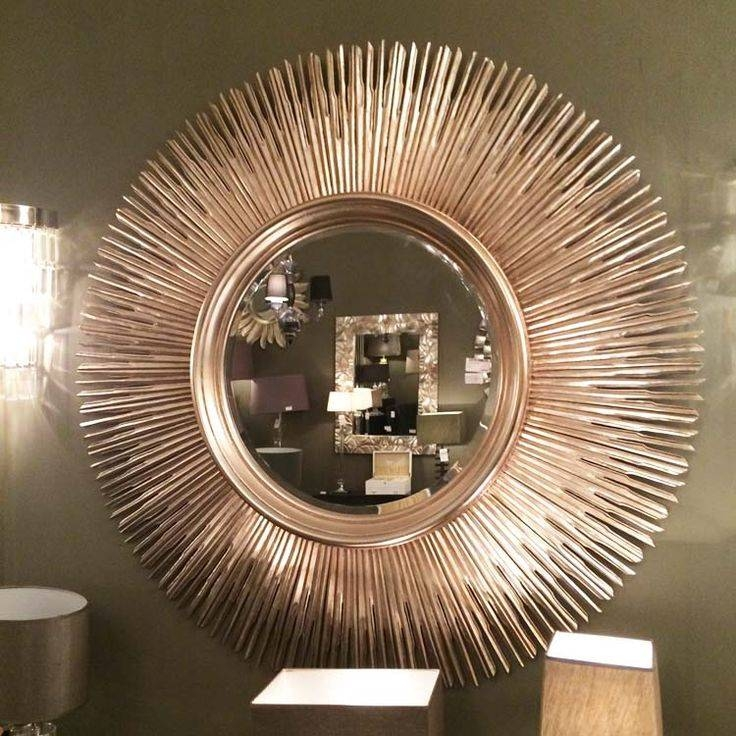 Gorgeous Sunburst Mirror With Beautiful Ray – Univind Intended For Large Sun Shaped Mirrors (#14 of 20)
