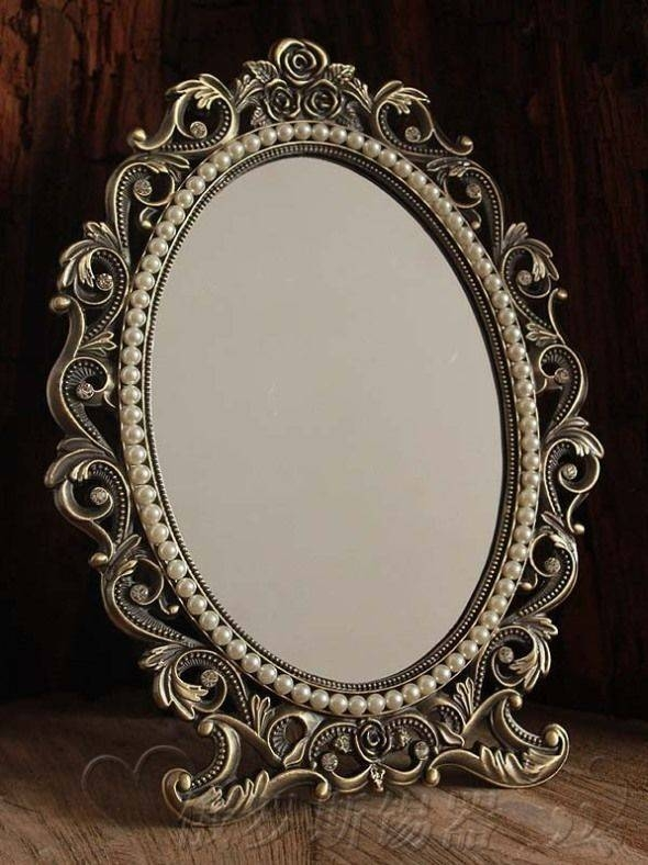 Gorgeous Vintage Antique Style Baroque Decorative Art Deco Vanity Throughout Cheap Vintage Style Mirrors (View 22 of 30)