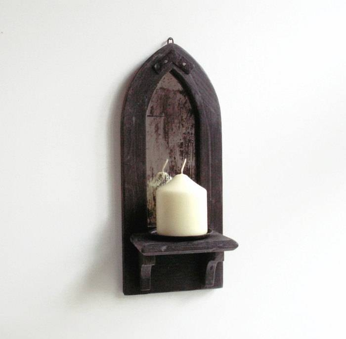 Gothic Mirror Candle Holder Shelf Wall Candle Holder Wall With Gothic Wall Mirrors (#13 of 20)