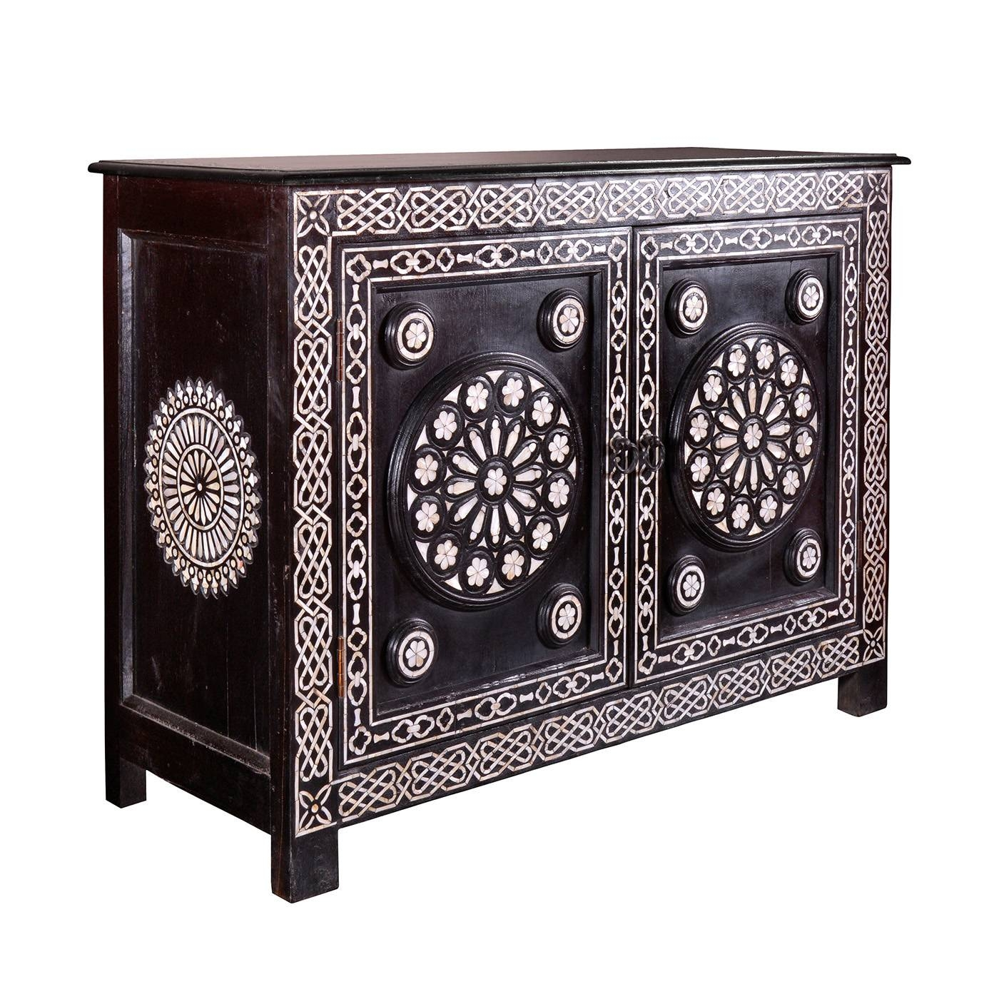 Gothic Pearl Inlay Sideboard: Mother Of Pearl Inlay Sideboard Buffett With Metal Sideboards (View 18 of 20)