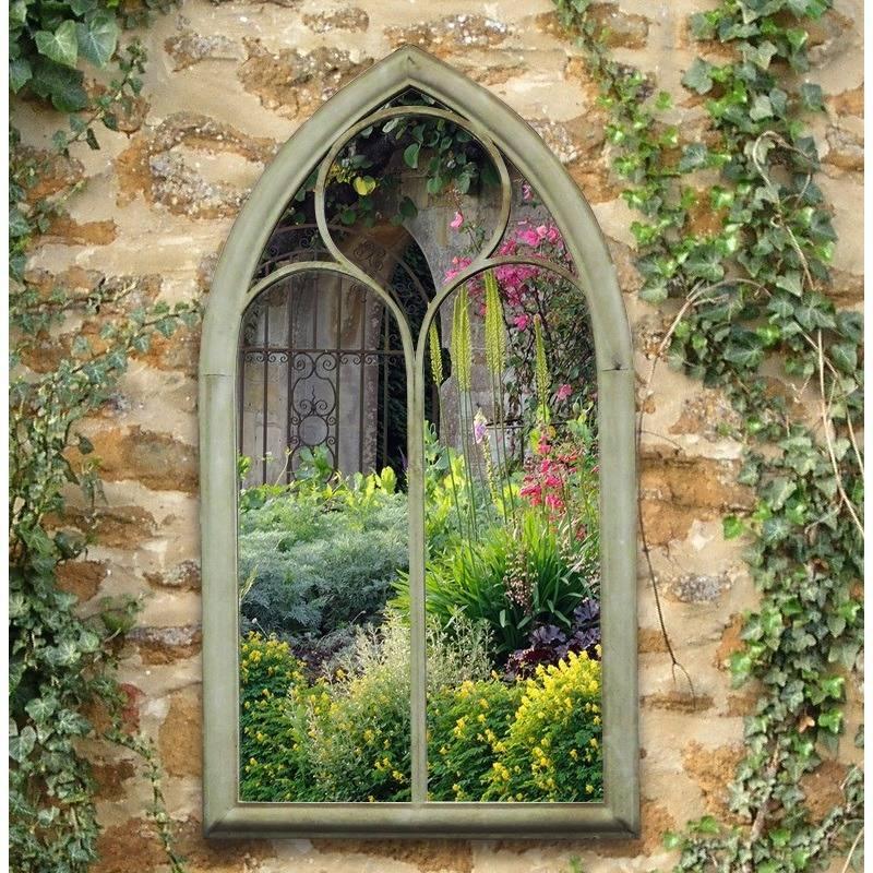 Gothic Style Chapel Garden Mirror – The Garden Factory For Gothic Garden Mirrors (#25 of 30)