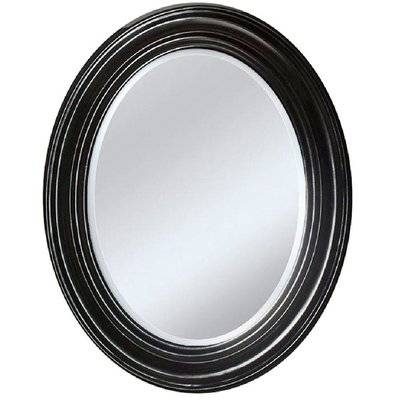Gracie Oaks Espresso Oval Accent Wall Mirror | Wayfair For Oval Black Mirrors (#8 of 20)