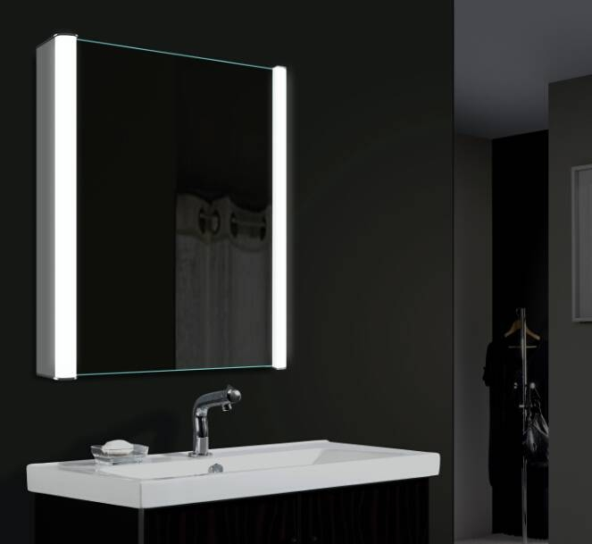 Grand Led Bathroom Mirror Cabinet Austin Cabinet – Bathroom Mirror Pertaining To Black Cabinet Mirrors (#24 of 30)