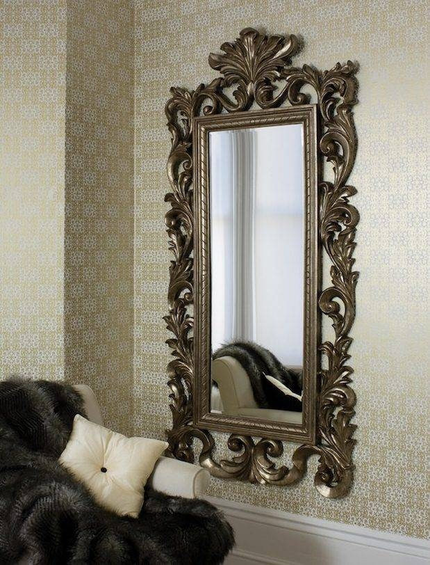 Grand Ornate Champagne Colour Framed Mirror | French Mirror Company Intended For Full Length Ornate Mirrors (#15 of 30)