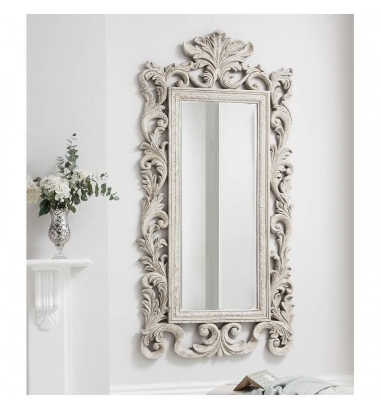 Grande Heritage Cream Mirror | Tall Cream Antique Mirror | Large For French Style Wall Mirrors (#21 of 30)