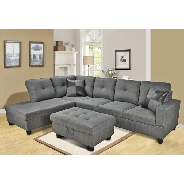 Gray Sectional Couch Youll Love Wayfair Regarding Sectinal Sofas (View 8 of 15)