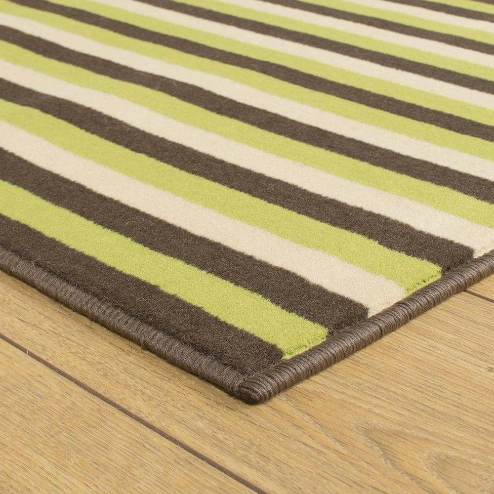 Green Brown Cream Hallway Carpet Runner Striped With Hallway Runners Green (#10 of 20)