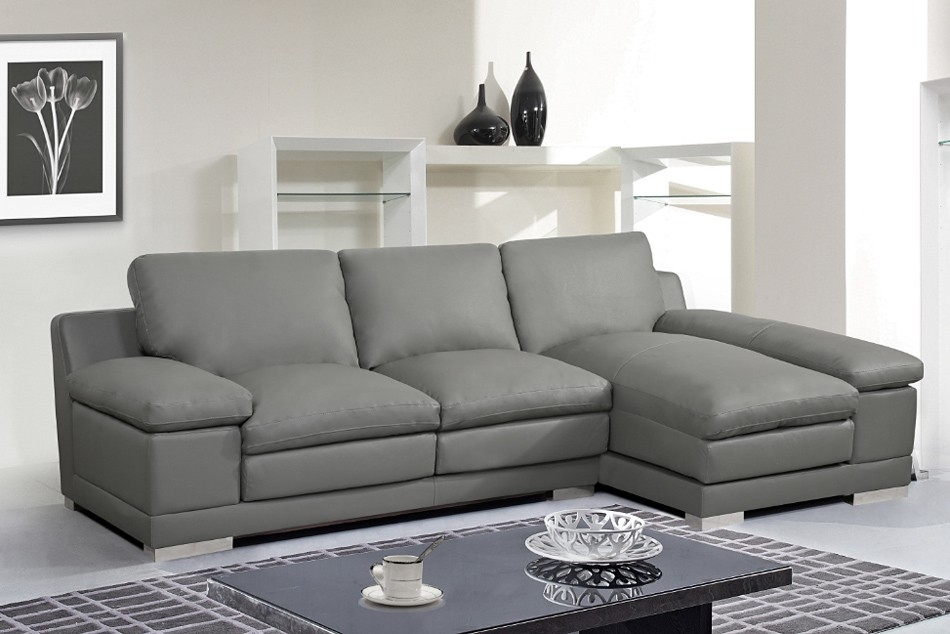 Ideas Of Gray Leather Sectional Sofas - Gray leather sectional sofas