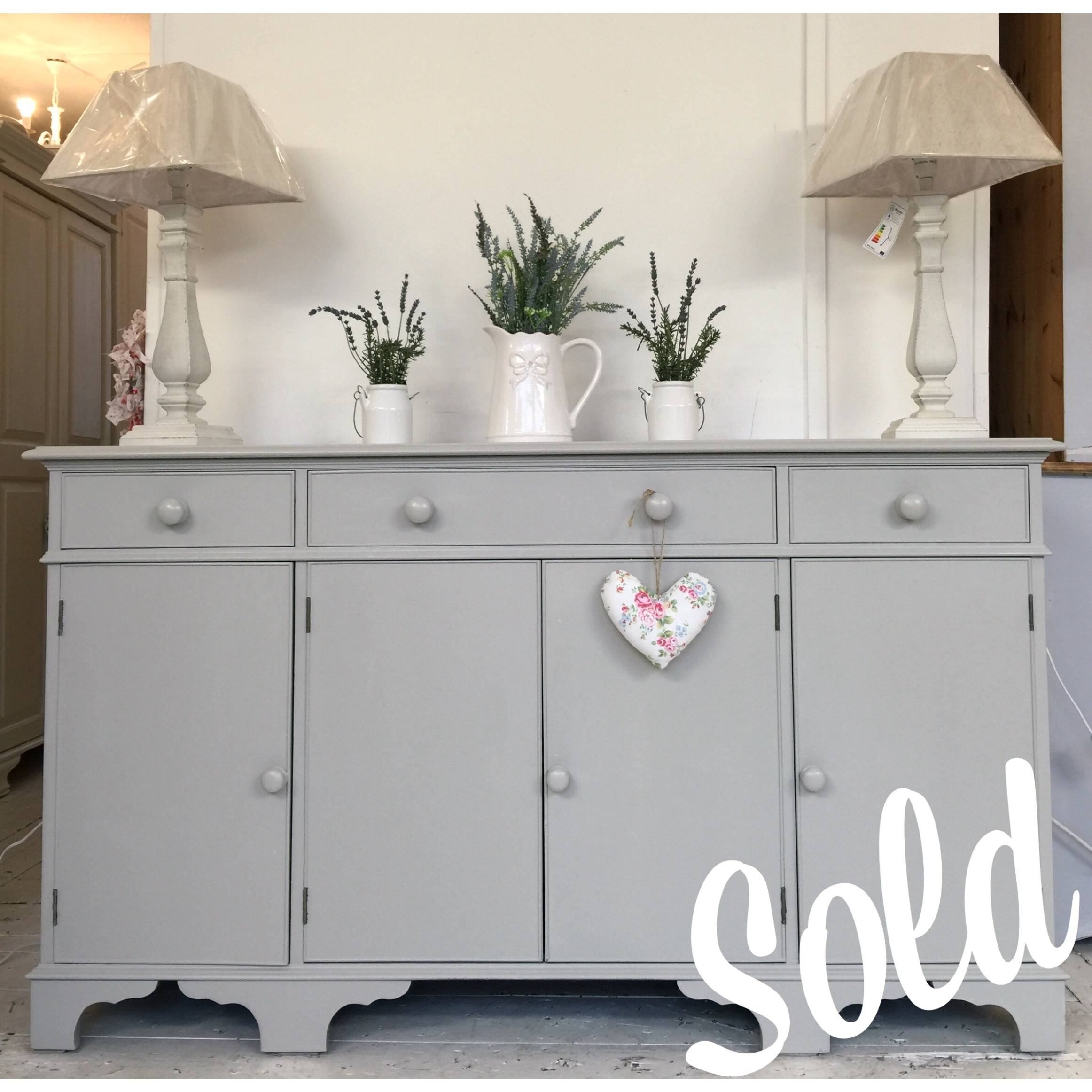 Grey Painted Sideboard – Home Sweet Homehome Sweet Home Pertaining To Grey Sideboard (#7 of 20)