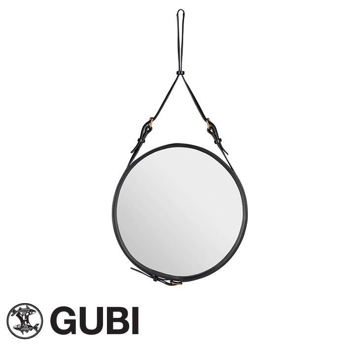 Gubi Mirror | Adnet Mirror | Adnet Round Leather Strap Mirror Pertaining To Round Leather Mirrors (#12 of 30)