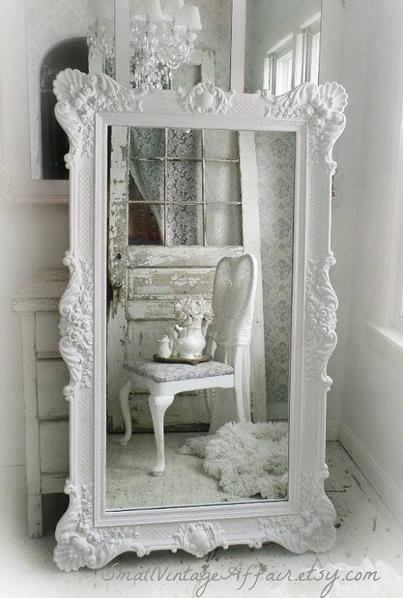H O L L Y W O O D Vintage Leaning Mirror Floor Mirror Regency With Vintage Floor Length Mirrors (#24 of 30)