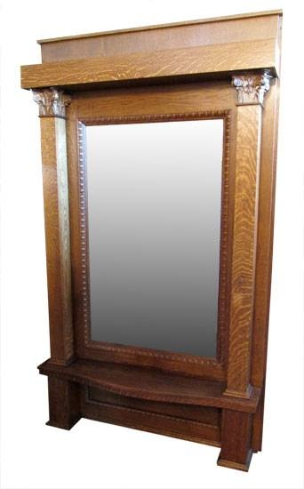 Hall Trees & Pier Mirrors Archives – Wooden Nickel Antiques For Antique Oak Mirrors (#17 of 20)