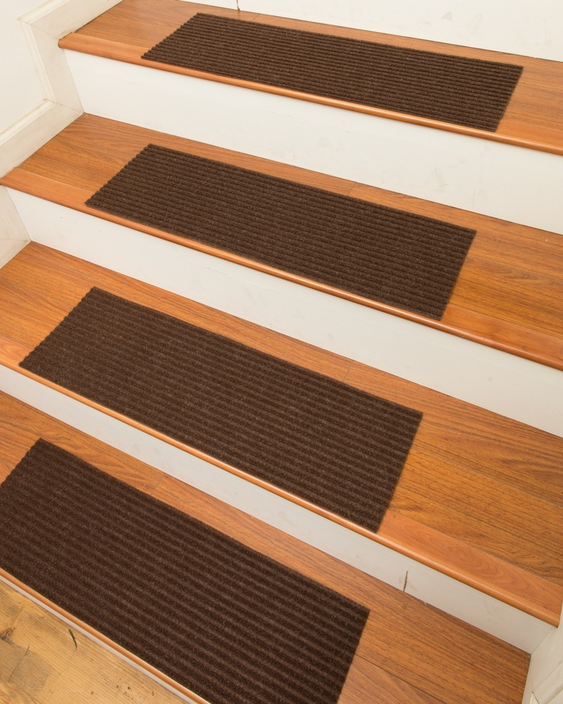 Halton Carpet Stair Treads Chocolate Set Of 13 Natural Home Regarding Set Of 13 Stair Tread Rugs (#11 of 20)