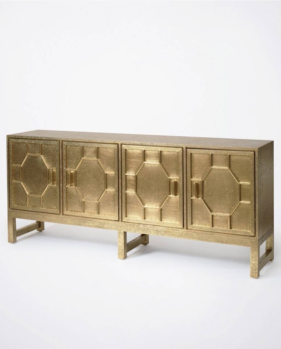 Hammered Brass Sideboard | Luxe Furniture | Bowerbird Home Within Metal Sideboards Furniture (#12 of 20)