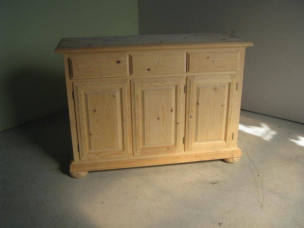 Hand Crafted 3 Door Pine Sideboard On Saleecustomfinishes Intended For Sideboard Sale (#7 of 20)