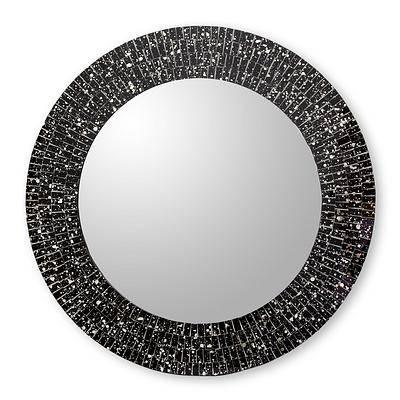 Popular Photo of Black Mosaic Mirrors