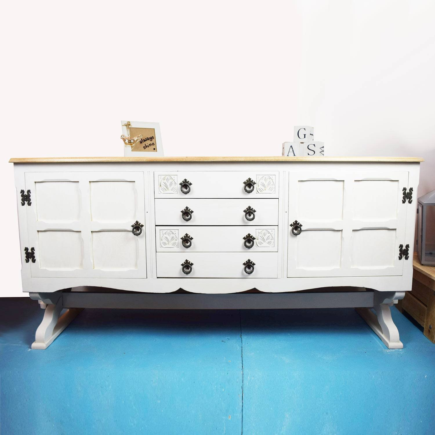 20 Inspirations of White and Wood Sideboard