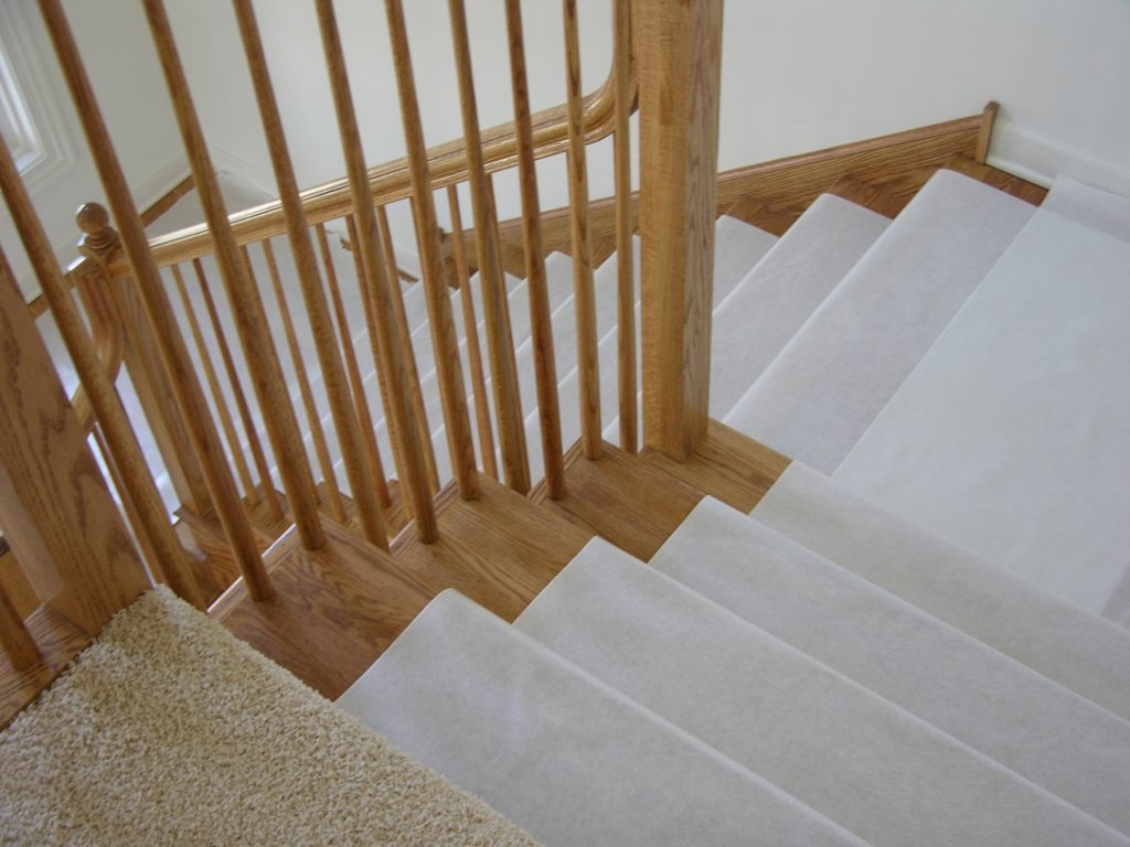 Hardwood Floor Stair Protection Finished Floor Guard Pertaining To Stair Slip Guards (#15 of 20)