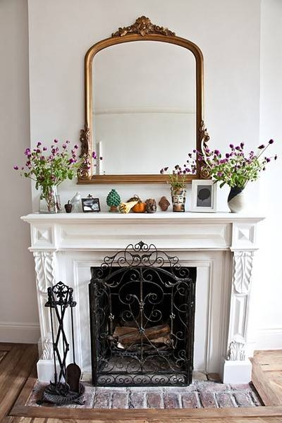 Heart Of Gold: Inspiration: Dressing Up A Mantel Regarding Gold Mantle Mirrors (#21 of 30)