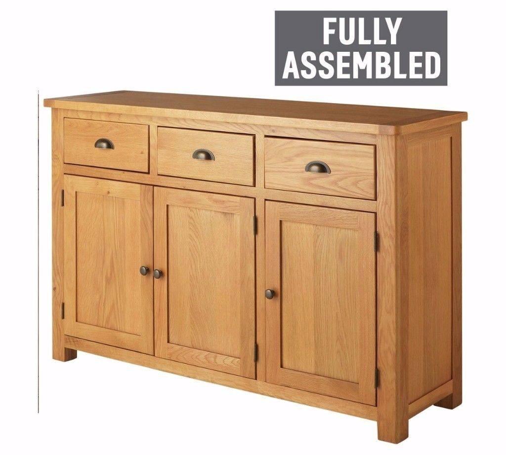 Heart Of House Kent Oak & Oak Veneer 3Dr 3Drw Sideboard | In Pertaining To Fully Assembled Sideboards (#12 of 20)